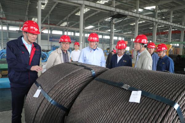 渤钢集团(非钢平台)肖树强一行到陕钢集团汉钢公司调研